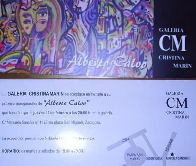 ALBERTO CALVO.- EXPOSICIÓN DE PINTURA Y ESCULTURA.-